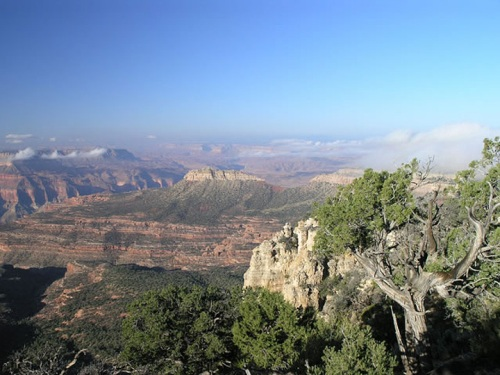 Crazy Jug Point, near the Canyon and the Spring, as seen from the Viewpoint.
