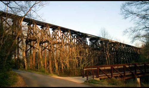 The Murmur Trestle today, a dead ringer for the Rocky Trestle.
