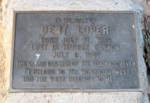 Plaque near the wreckage of Bert's boat.
