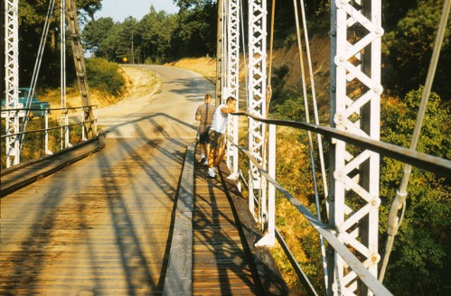 Lee and me on Little's Ferry Bridge, September 1962.