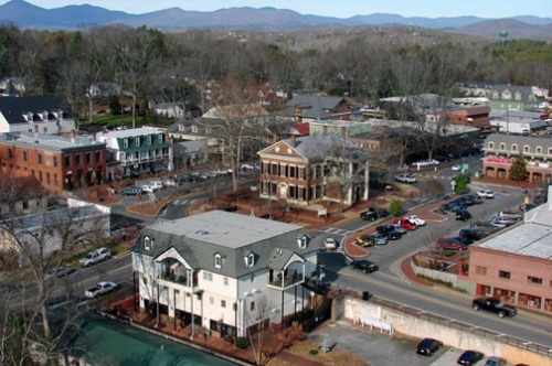The Dahlonega public square.