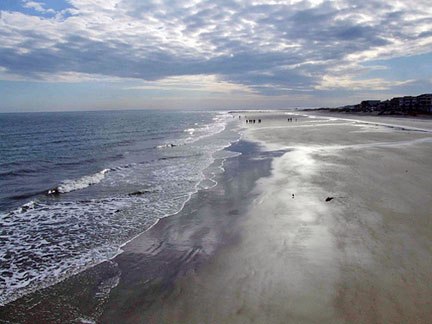 The beach at Tybee Island.