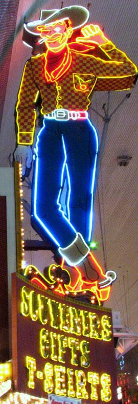Fremont Street's Vegas Vic.