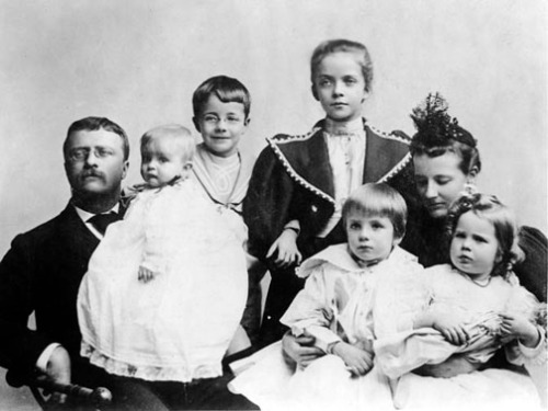 Young Alice (center) and the Teddy Roosevelt family.