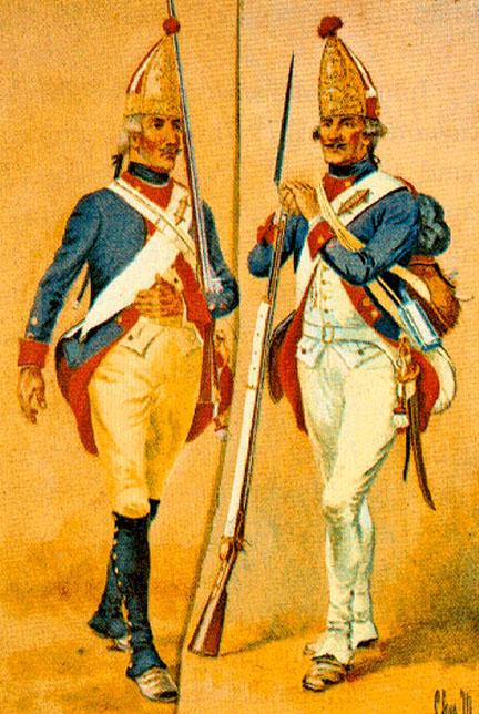 Hessian infantrymen.
