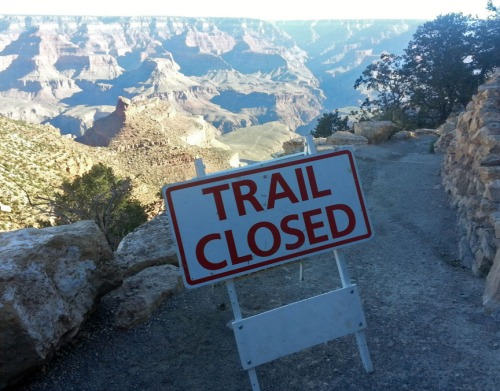 Trail closed