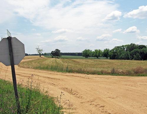 The former Jones family farm, still under cultivation today.