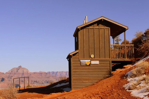 Refuge -- the composting toilets at Cedar Ridge.