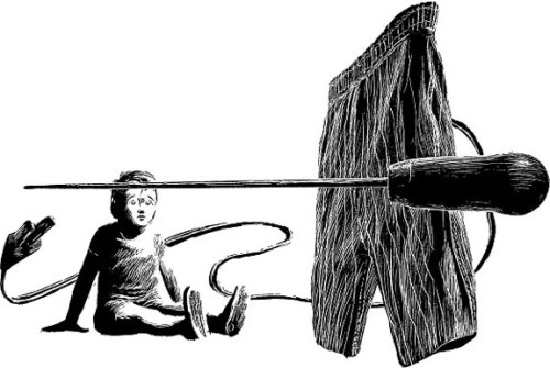 Original illustration from Analog Science Fact & Fiction by John Schoenherr.