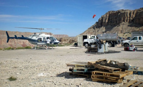 The state-of-the-art helipad at Hualapai Hilltop.