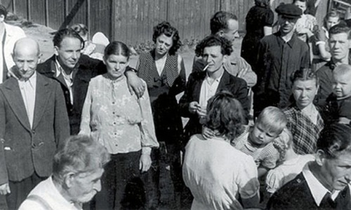 Residents of a DP camp in Germany, late 1950s.