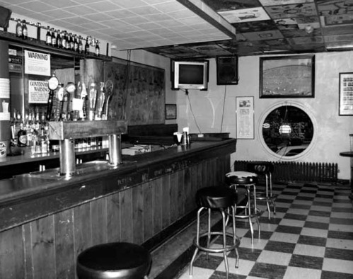 An unidentified drinking establishment from the 1960s. Payne's Place wasn't quite this fancy.