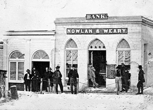 Street scene in Virginia City, late 1860s.