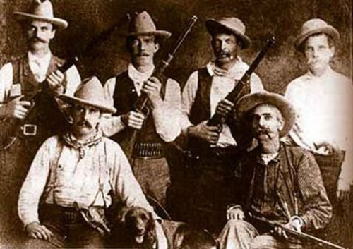 Members of the Montana Vigilantes, steadfast and proud.
