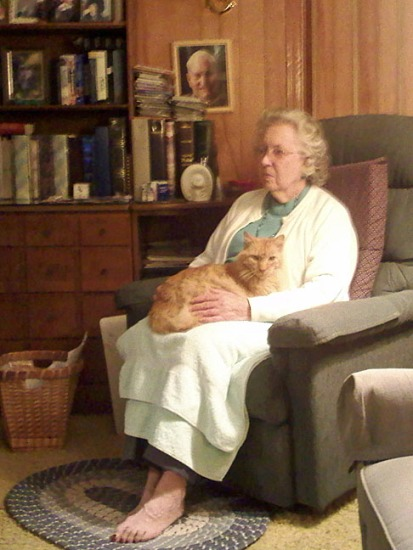 Betty and Thomas at home, 2010.