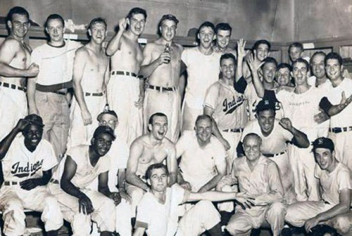 The Savannah Indians in the 1950s, soon after the team became integrated. Seating in the stands remained segregated for another decade.