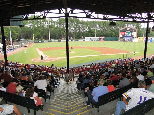 Grayson Stadium, home of the Savannah Sand Gnats. The stadium is named for General William Grayson, a local feller who fought in the Spanish-American War.