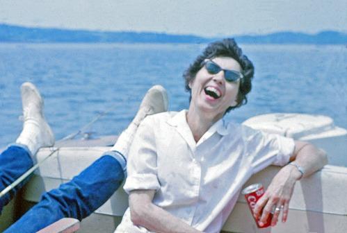 Mom at the lake, summer 1964.