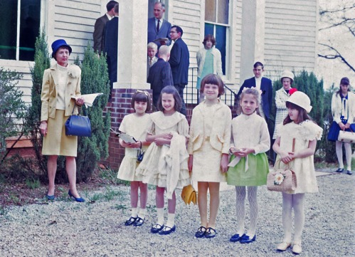 Mom with the girls in her Sunday School class in 1968. Mom was still teaching.
