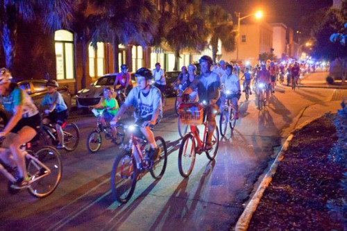 Savannah's annual Midnight Garden Ride is held in October.
