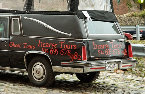 Savannah Ghost Tour Hearse 1