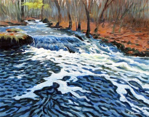 """November Freshet"" by Barry Close, 2009."
