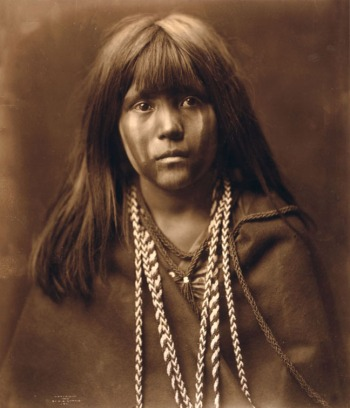 """Mosa -- Mohave"" by Edward Curtis, 1903, one of the most mesmerizing photos in the Curtis collection. This is said to be the image that melted the heart of tycoon J. P. Morgan and persuaded him to fund the project when Curtis was almost broke."