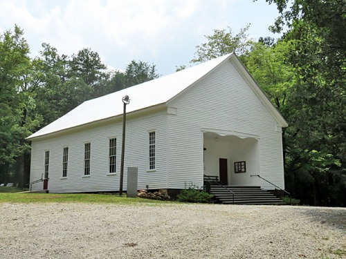 Hebron Presbyterian Church, 2015. The present building, constructed in the 1880s, features separate entrance doors for men and women, a tradition I assume the church no  longer honors.