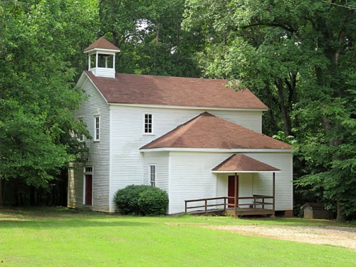 Classes were held in the main church building until 1909, when this schoolhouse was constructed next door. It was a primary community school until the 1930s.