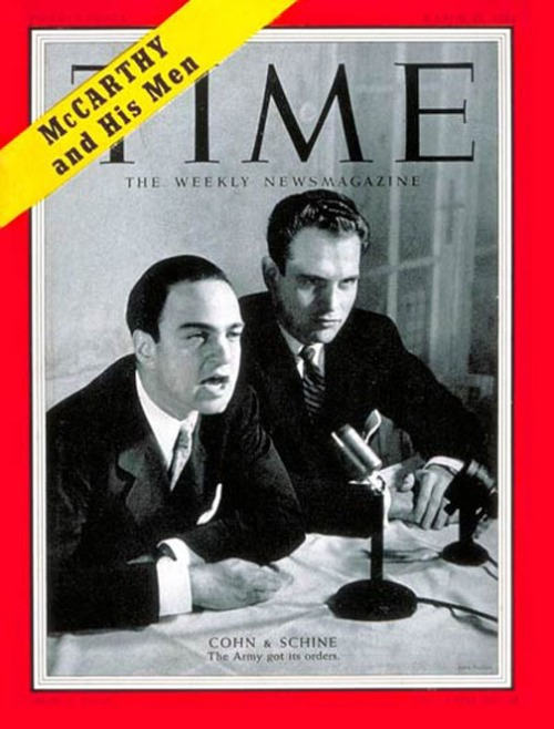 Cohn and Schine on the cover of Time Magazine, March 22, 1954.