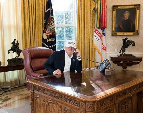 Trump at work