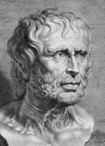 « Portrait de Sénèque d'après l'antique » (le Pseudo-Sénèque), b
