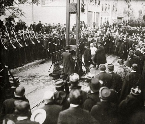 Execution By Guillotine Taking Place