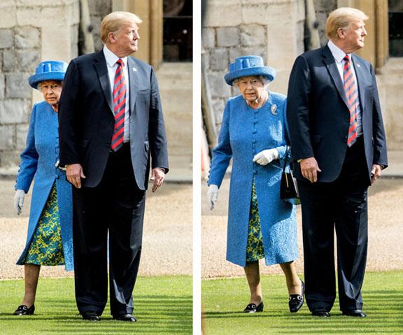 Trump and Elizabeth